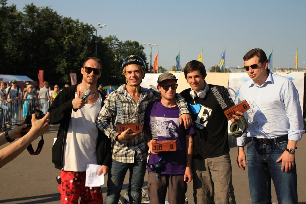 MBS Pro Team 1 & 2 at Mountainboarding World Freestyle Championships 2012 in Moscow