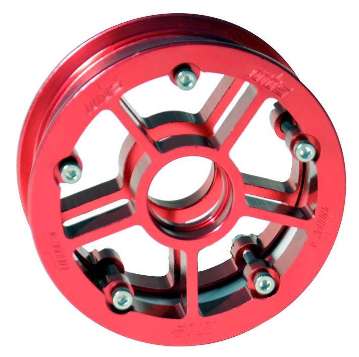 13243 - MBS Rock Star Pro Hub - Red Aluminum