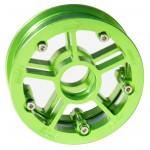 13246 – MBS Rock Star Pro Hub – Green Aluminum