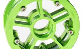 13246 - MBS Rock Star Pro Hub - Green Aluminum