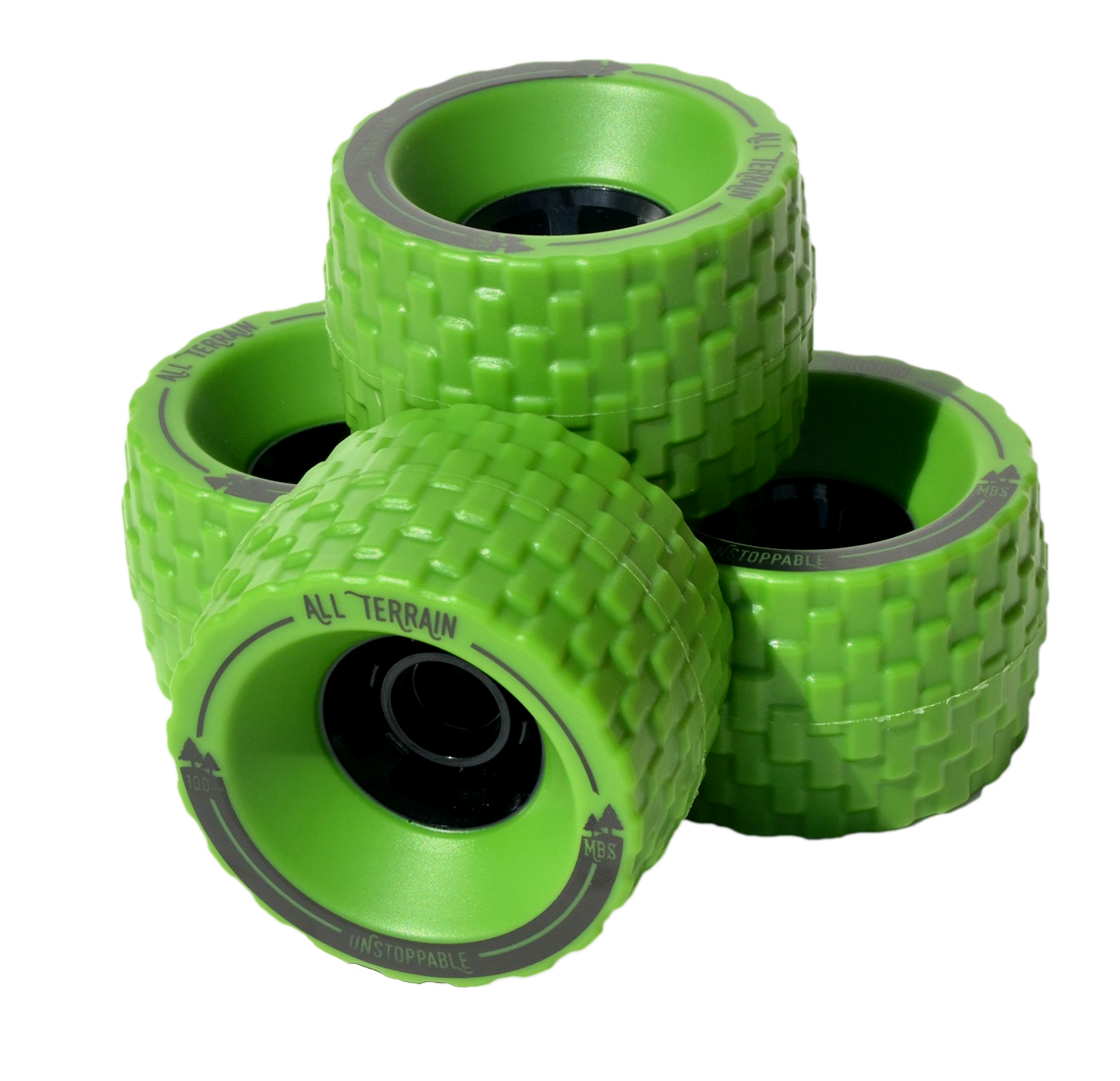13406 - MBS All Terrain Longboard Wheel Set - Green
