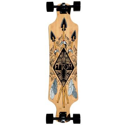 40005 Atom 39 Inch Bamboo Drop-Deck Longboard