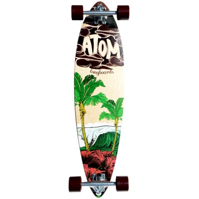 40007 Atom 35 Inch PinTail Longboard Surf