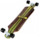 40009 – Atom 39 Inch Drop-Deck Longboard – Artisan Brown – Bottom 3 Qtr