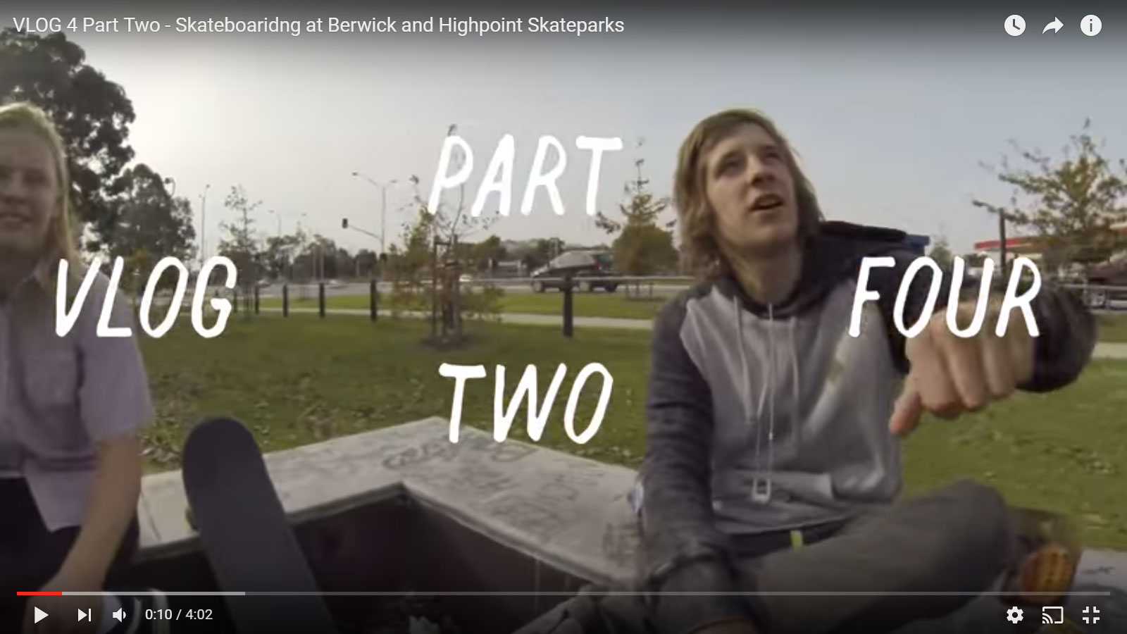 Dylan Warren Vlog 4 – Part 2 Skateboarding at Berwick and Highpoint Skateparks