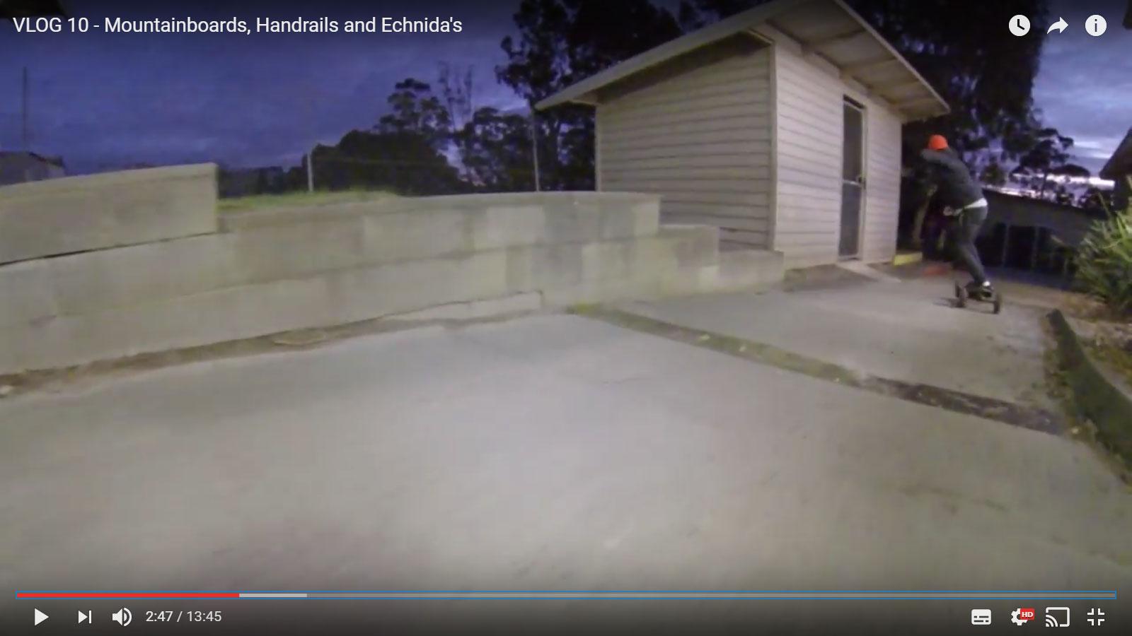 Dylan Warren Vlog 10 – Mountainboards, Handrails and Echnida's
