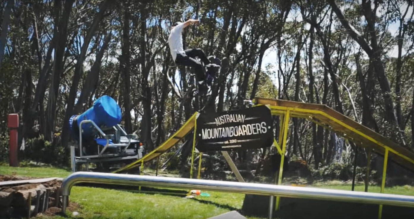 Mountainboarding at Mt Baw Baw