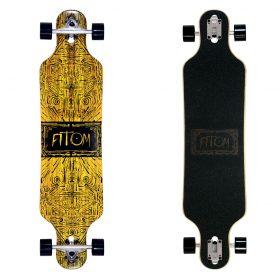 Atom Drop Through Longboard – 40 Inch – Tiki Banner 2