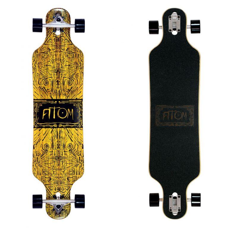 Atom Drop Through Longboard - 40 Inch - Tiki Banner