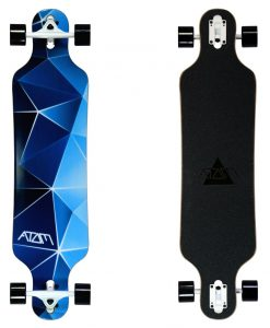 Atom Drop Through Longboard - 40 Inch - Blue Geo