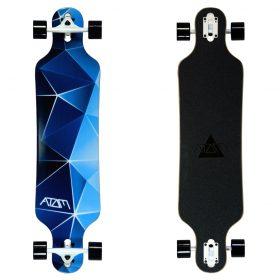 Atom Drop Through Longboard – 40 Inch – Blue Geo 2