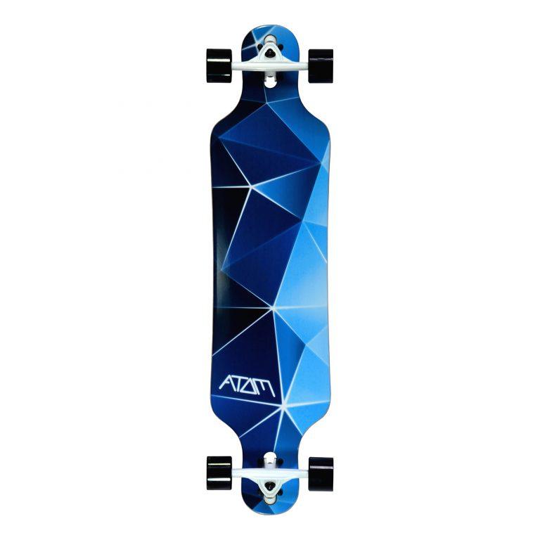 Atom Drop Through Longboard – 40 Inch – Blue Geo 1