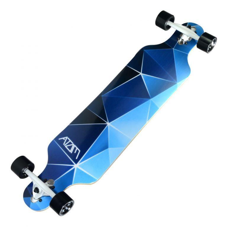 Atom Drop Through Longboard - 40 Inch - Blue Geo