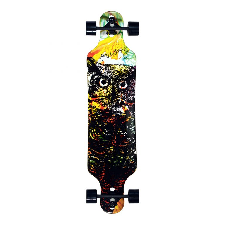 Atom Drop Through Longboard – 40 Inch – Owl 1