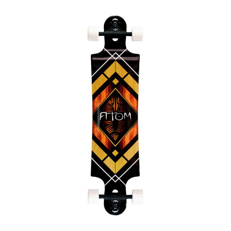 Atom Double Drop Longboard – 38 Inch – Woody Diamond 1