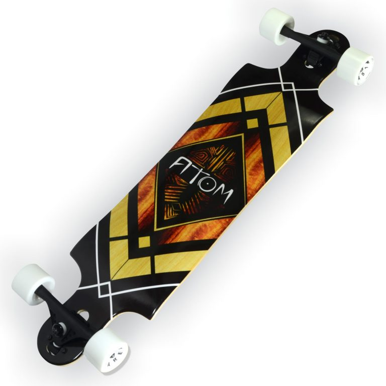 Atom Double Drop Longboard - 38 Inch - Woody Diamond