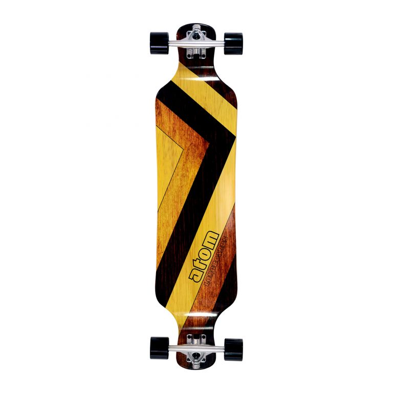 Atom Drop Deck Longboard – 39 Inch – Woody 1