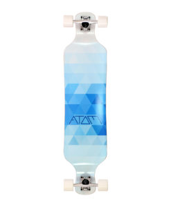 Atom Drop Deck Longboard - 39 Inch - Blue Triangles