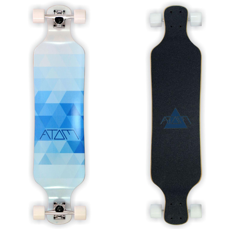 Atom Drop Deck Longboard - 39 Inch - Blue Triangles