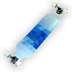 Atom Drop Deck Longboard – 39 Inch – Blue Triangles 3