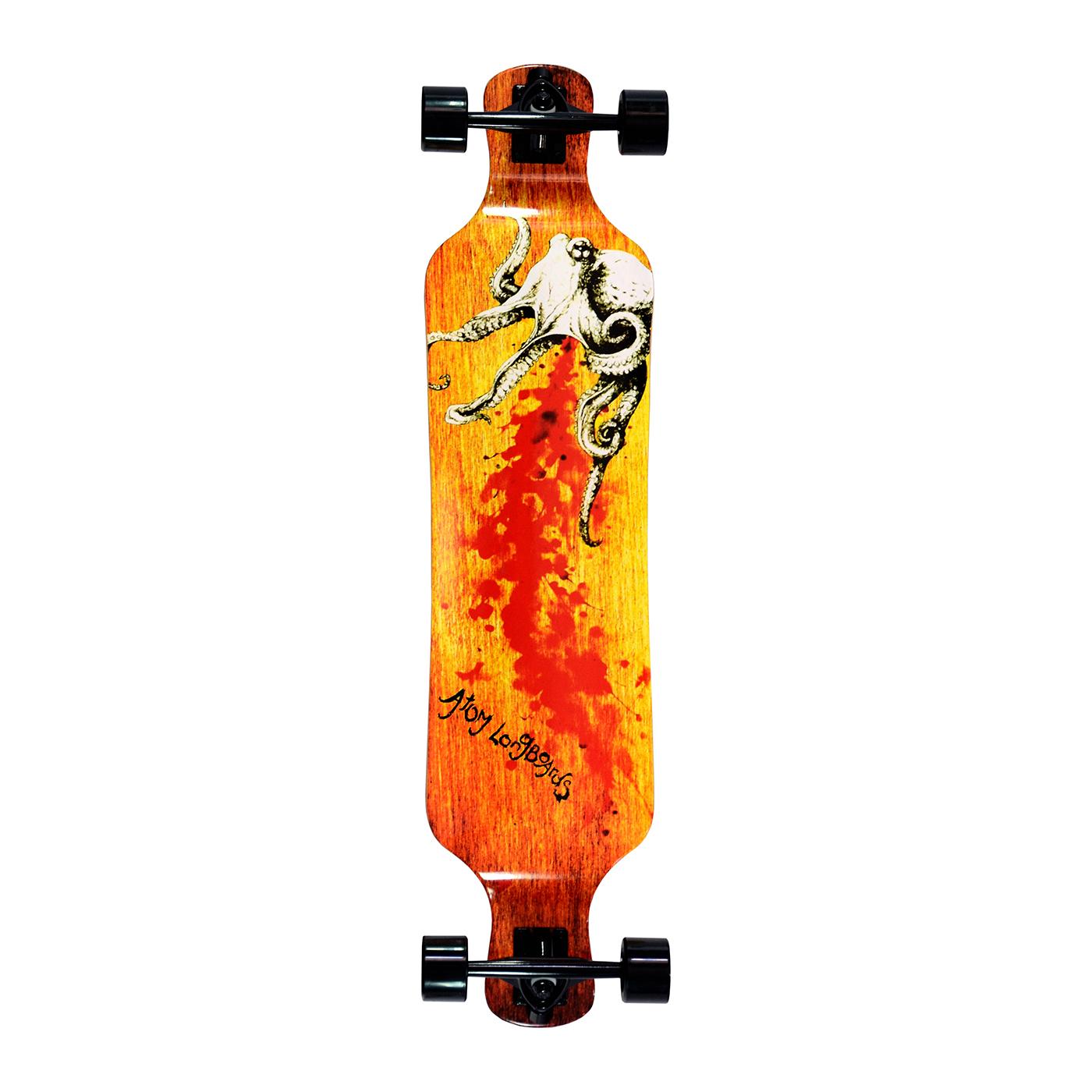 Atom Drop Deck Longboard - 39 Inch - Octopus