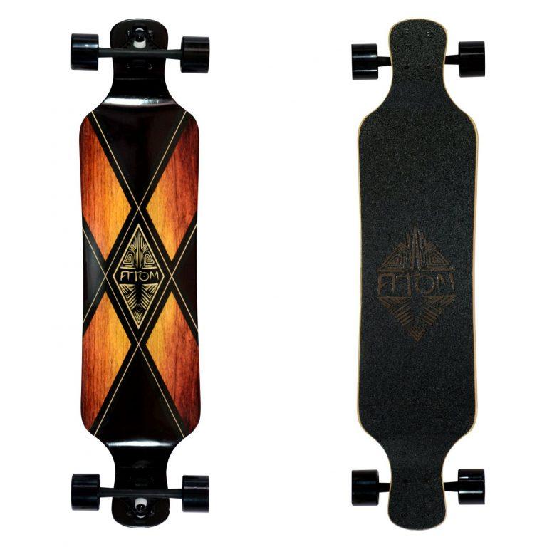 Atom Drop Deck Longboard - 39 Inch - Woody X